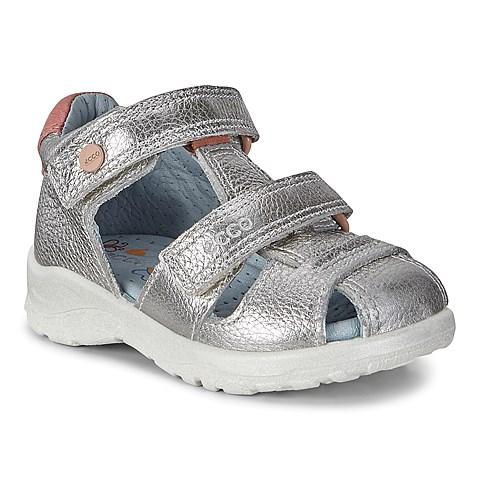 c2ef5a76a670 Ecco Peekaboo. Silver Metallic   Nala Metallic. Kids. Sandal ...