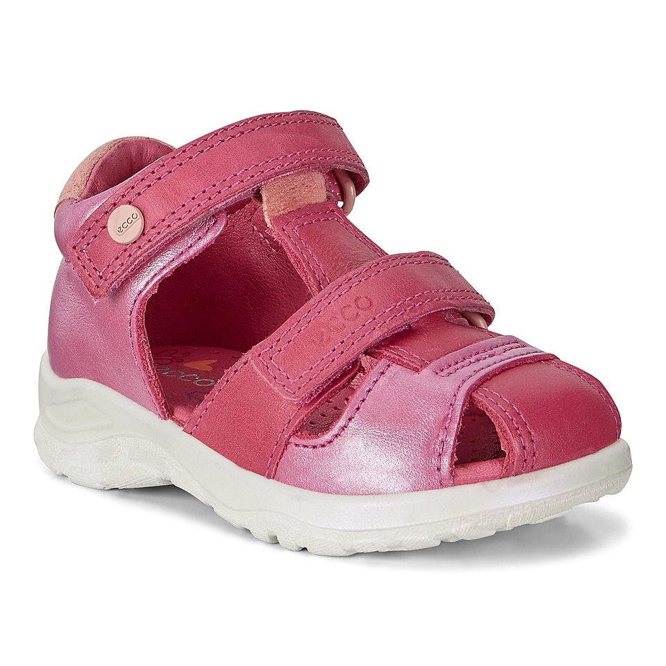 3bfe96a83b5 Ecco Peekaboo 75185150229 Beetroot. Kids Leather Sandal ...