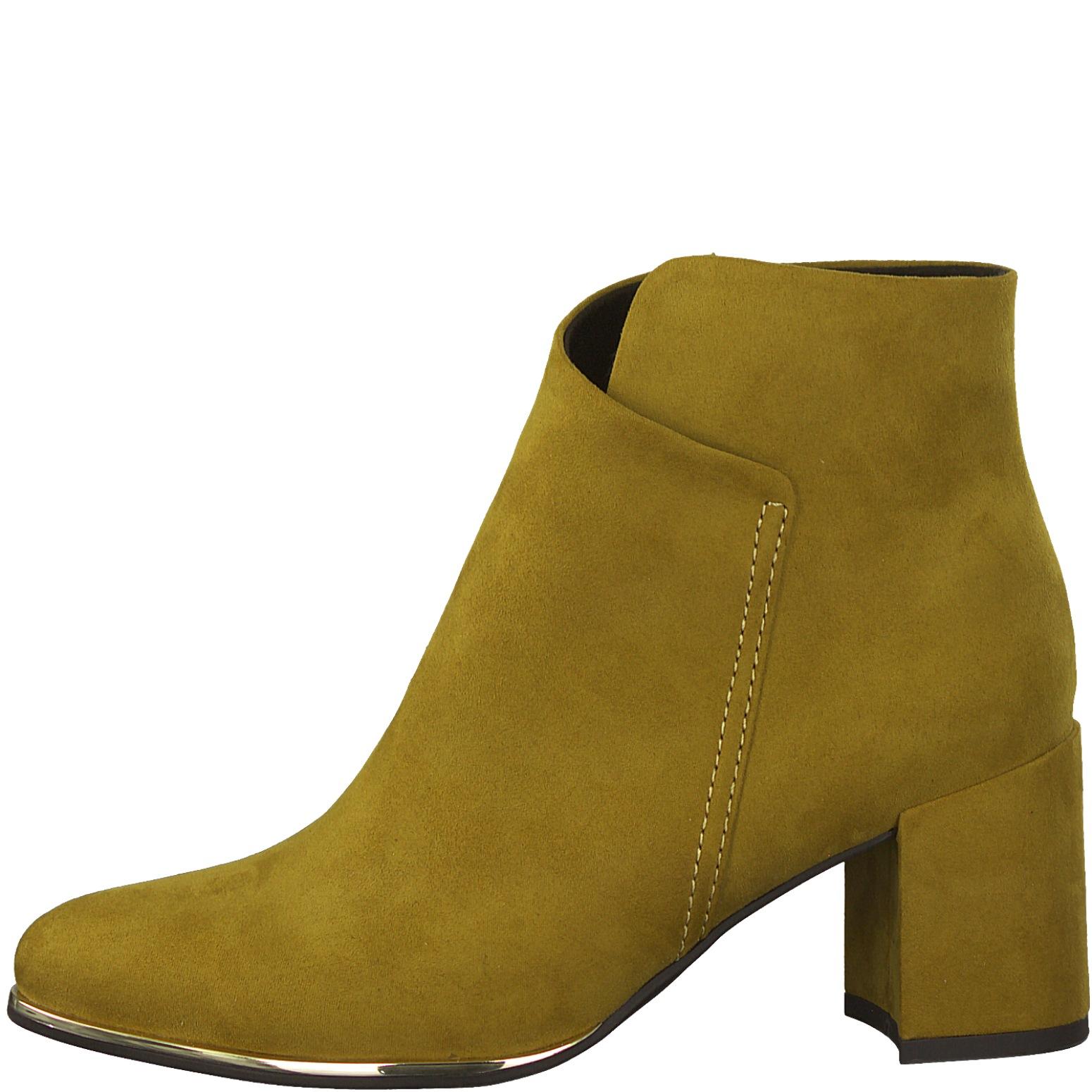 tamaris tstore mustard gule ruskind pumps stiletter