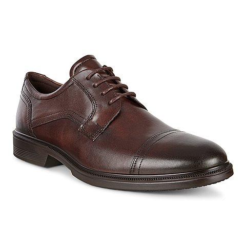 Ecco Lisbon 62211401482 Cocoa Leather. Lace.